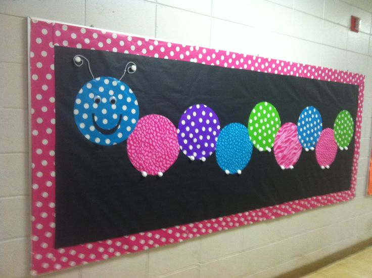 Mrs. Embry's Clever Caterpillars Bulletin Board.
