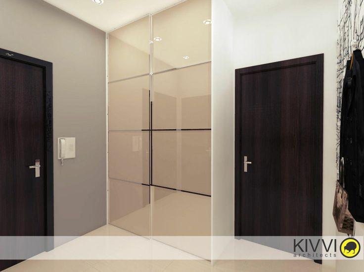 Návrh interiéru chodby. Interiérový dizajn od Kivvi architects_Corridor interior www.kivvi.sk