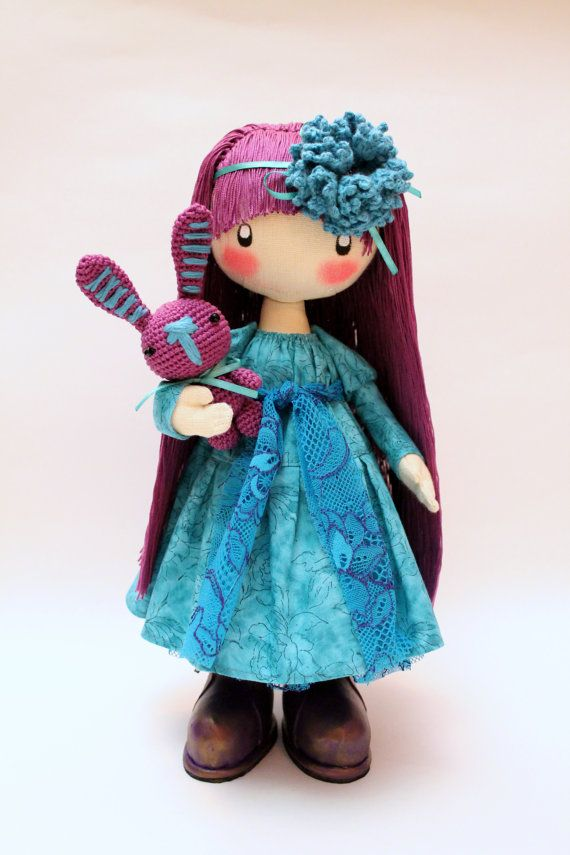 Hey, I found this really awesome Etsy listing at https://www.etsy.com/listing/218413637/doll-flossya-purple-and-turquoise