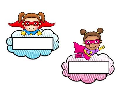 Superhero Name Tags - EDITABLE from House Fly Creations on TeachersNotebook.com (4 pages)