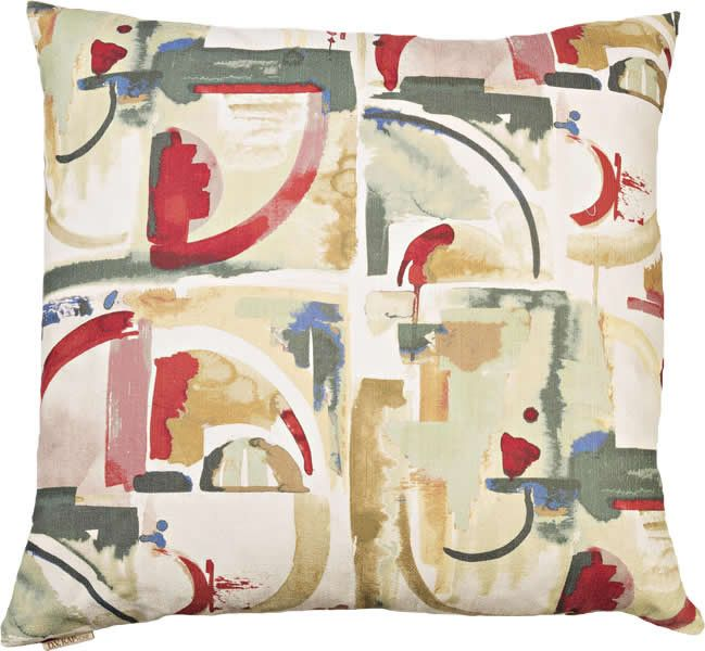 Maggiore - Red Throw Pillow