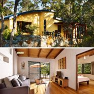 Aiyana Retreat, Denmark, Western Australia Luxurious, stunningly designed 4.5 star retreats on the Bibbulmun Track offering a supremely relaxing experience. Situated in the heart of Denmark's unique natural environment, this charming Retreat provides 1 & 2 bedroom self contained accommodations which have been designed, built and decorated by some of Denmark's finest artists and craftsmen, using local timber, stained glass windows, handmade tiles and mosaics.