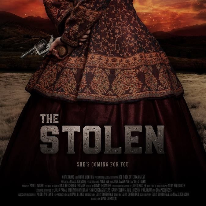 The Stolen (2017) starring Alice Eve, Jack Davenport, Richard O'Brien, Stan Walker, Graham McTavish, Gillian MacGregor, Mikaela Ruegg, Emily Corcoran, Cohen Holloway. Shot in Canterbury New Zealand. Directed by Niall Johnson and written by Emily Corcoran.