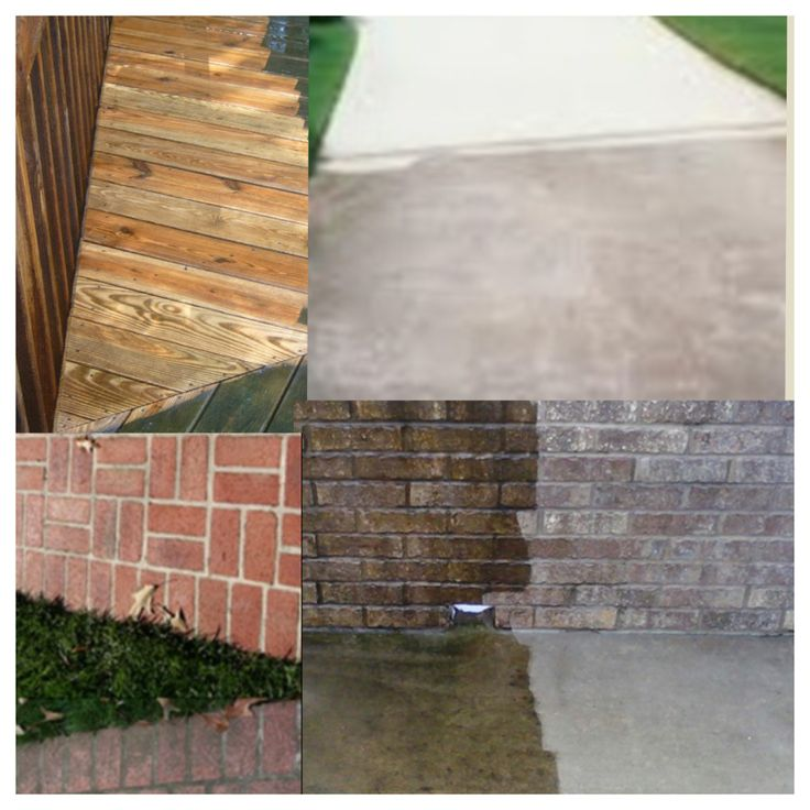 Before and after house power wash power washing brick - How to clean house exterior before painting ...