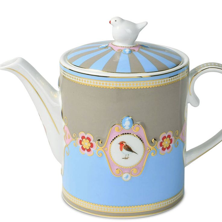 love birds large teapot by pip studio choosing a new teapot is like looking for a new friend. Black Bedroom Furniture Sets. Home Design Ideas