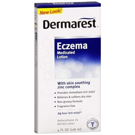 Dermarest Eczema Medicated Lotion Fragrance Free - 4 fl oz
