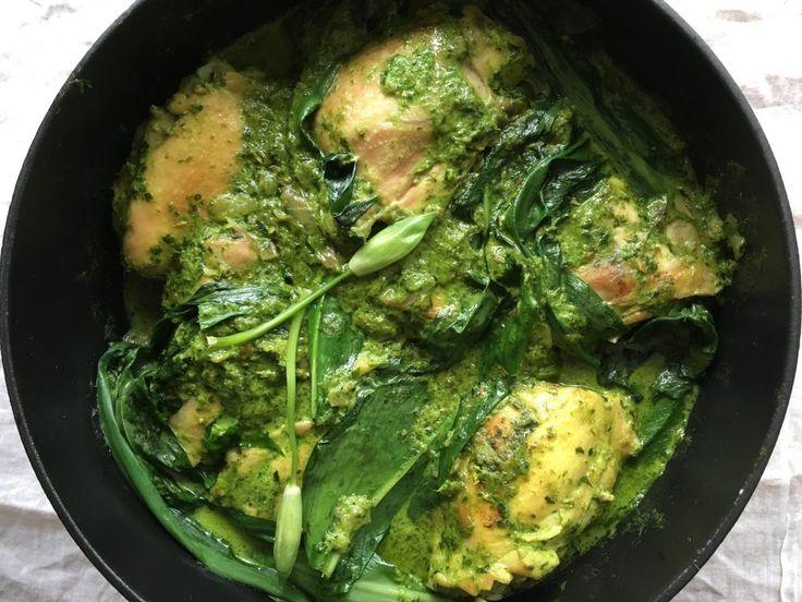 Wild garlic chicken curry