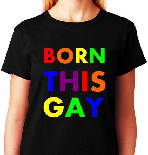 GAY SHIRT Born This Gay Rainbow Pride  Christmas by ALLGayTees