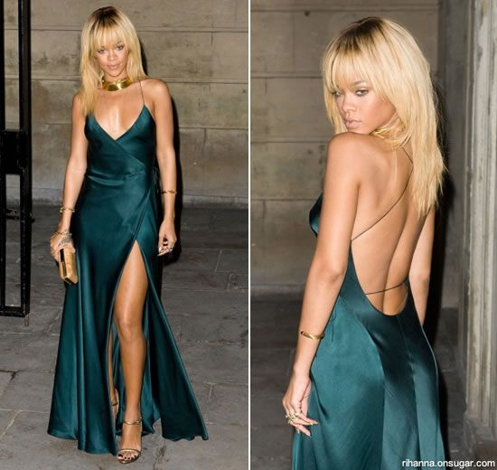 Rihanna in Armani at Stella McCartney dinner
