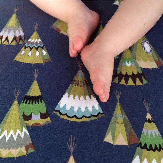 Teepee Fitted Crib Sheet - these are perfect for our little boy Tepe some day