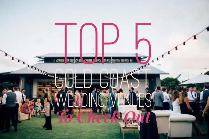 Top 5 Gold Coast Wedding Venues to Check Out!  Choosing a wedding venue is usually the very first step of your wedding planning process and is a huge decision. This is the place where some of the happiest memories of your life will be created, so it's important to choose a venue that you fall in love with!  Here on the sunny Gold Coast we are spoilt for choice when it comes to beautiful and cost effective venues