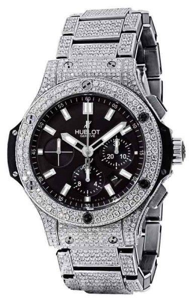 4baeb416c6a Hublot Big Bang 44 Full Iced Out Genuine Diamonds Watch