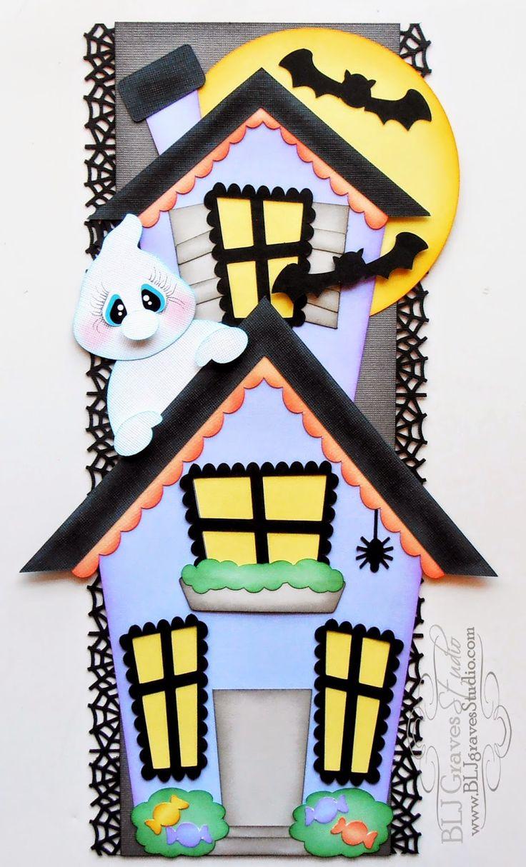 Scrapbook border ideas - Haunted House Scrapbook Border Blj Graves Studio