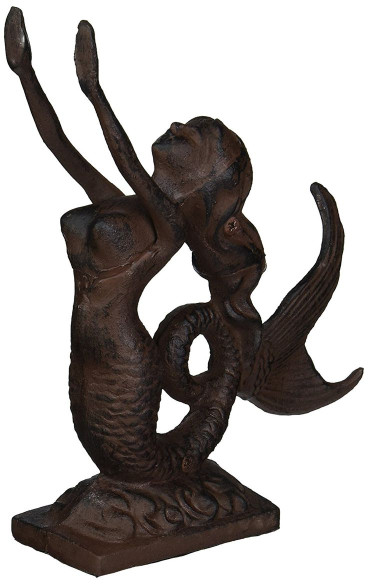 Cast iron door stoppers knockers nautical accents nautical decor - Rustic Iron Mermaid Door Stop 9 Mermaid Decor Nautical Decor Beach Decor Mermaid Decoration Find Out More About The Great Product At The Image