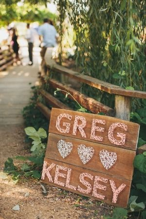 string wedding signs | this would take forever but it's really cool..Will definitely go with my barn wedding idea! :)