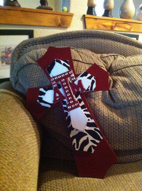 LARGE Texas Aggie Theme Wood Cross A&M on Etsy, $38.00