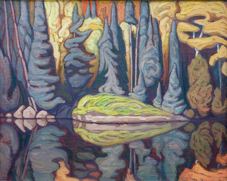 Lawren Harris (Can. 1885-1970), Sand Lake, Algoma, 1922, 32x40 inches, oil