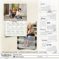 2016 Calendar One Page 2