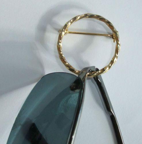 Antique Brooch Pin Eyeglass Holder, Gold Finish