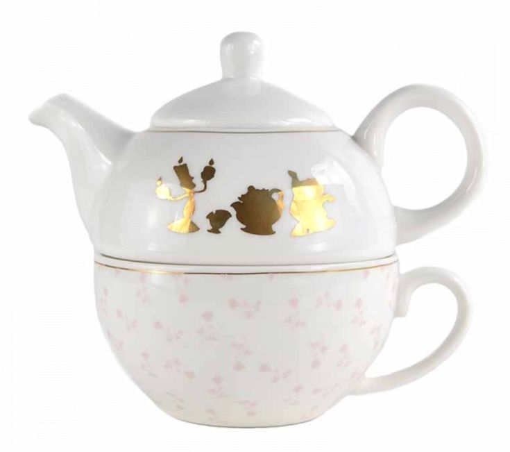 Beauty and the Beast Floral Teapot for One