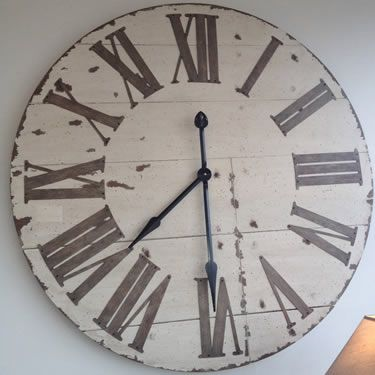 large white wall clock wooden extra outdoor clocks uk ebay