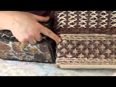 Huge series of videos on weaving paper baskets