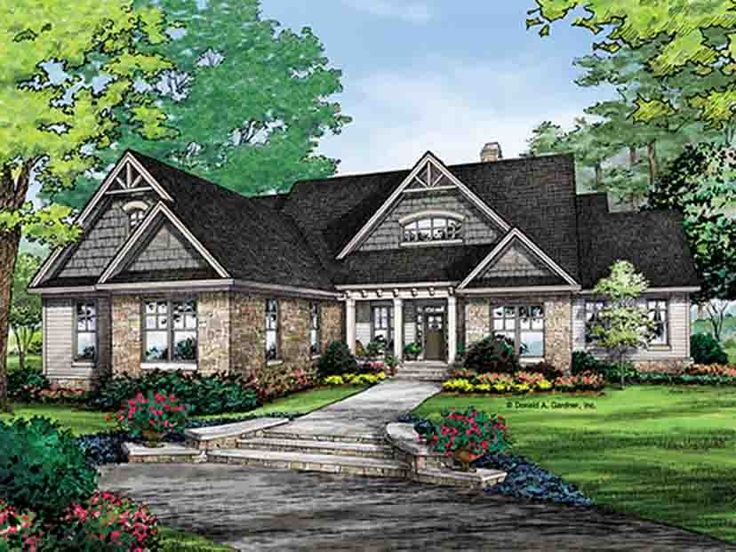 Eplans craftsman house plan quaint craftsman with Craftsman lake house