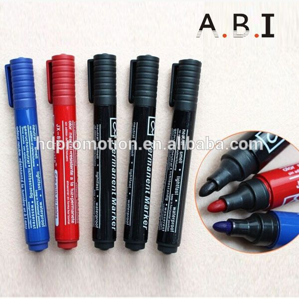 high quality 12 color permanent marker pen