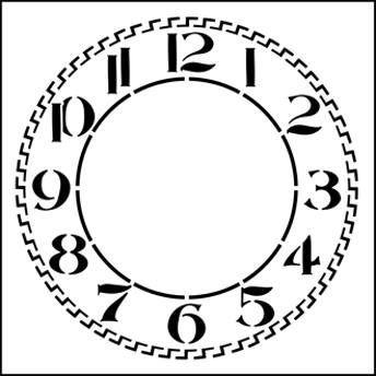 Resultado de imagen para stencil cuadrante de reloj