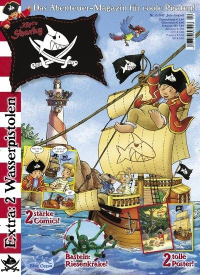 2 starke Comics & Basteln: Riesenkrake 🐙  Jetzt in Käptn Sharky  #Kinder #Kinderzeitschrift #Vorlesen #GeschichtenFürKinder