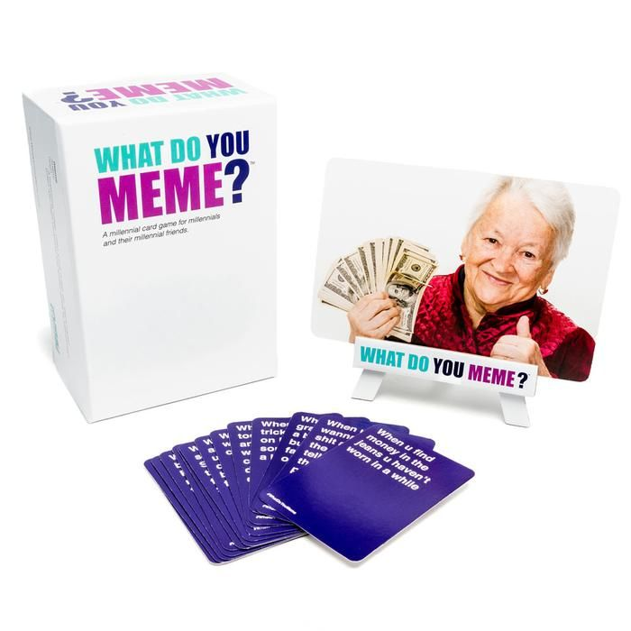 What Do You Meme?                  : The funniest party game you've never played. In this game, friends and families compete IRL to create the funniest memes.