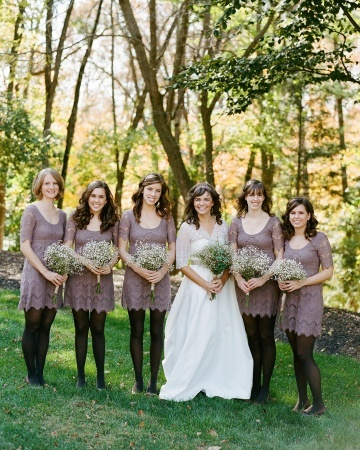 The Bridal Party: Bridesmaid Tights, Decor Ideas, Bridesmaid Dresses, Easy Dresses, Brows Martha, Bridal Gowns, Indianapolis Indiana, Bridal Parties, Autumn Inspiration