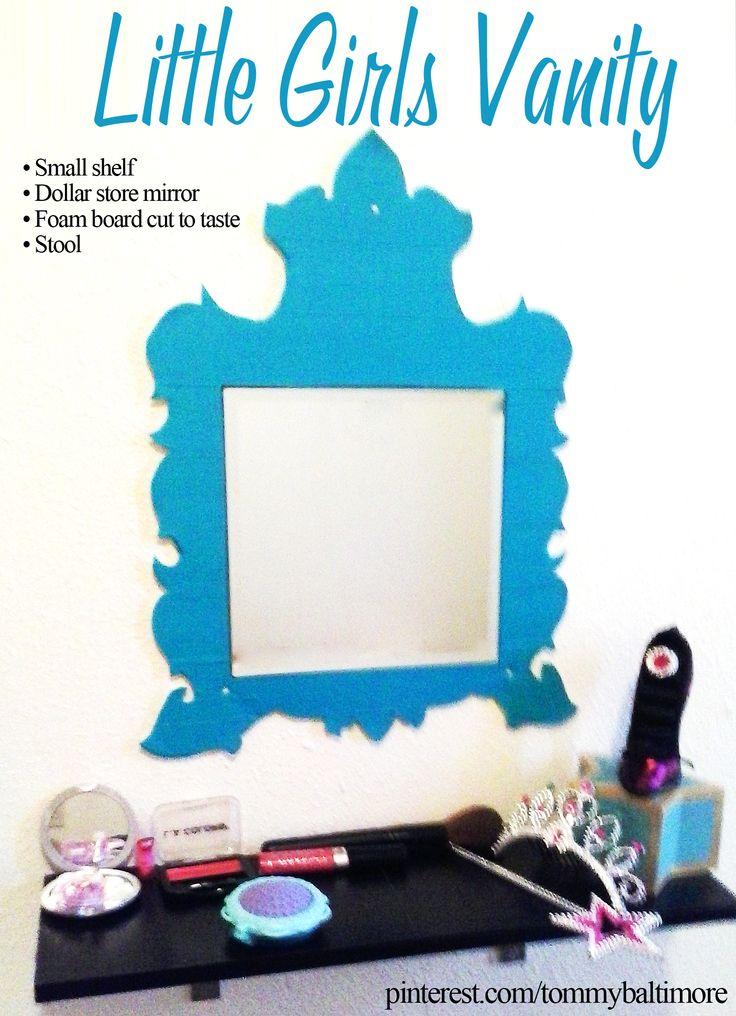 diy vanity for little girl. Little Girls Vanity  diy easy girl shelf ideas 72 best DIY little Play makeup images on Pinterest