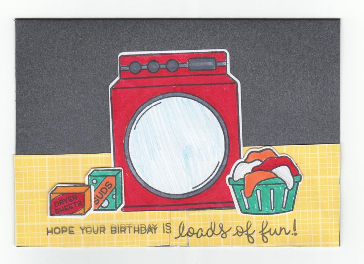 This was the first card I made with this stamp set, Loads of Fun by lawn fawn, and I love the colour combo of red, aqua, yellow and orange.
