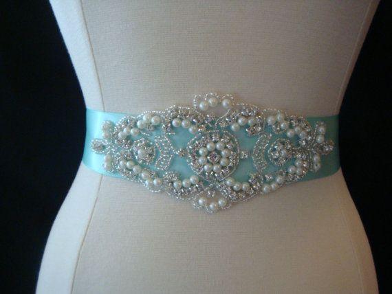 Bridal Sash Wedding Dress Sash Belt Tiffany by BellaFleurBridal