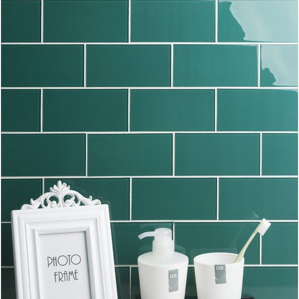 Quality Value Series 3 X 6 Glass Subway Tile In Glossy Dark Teal Glass Mosaic Tiles Glass Subway Tile Mosaic Glass