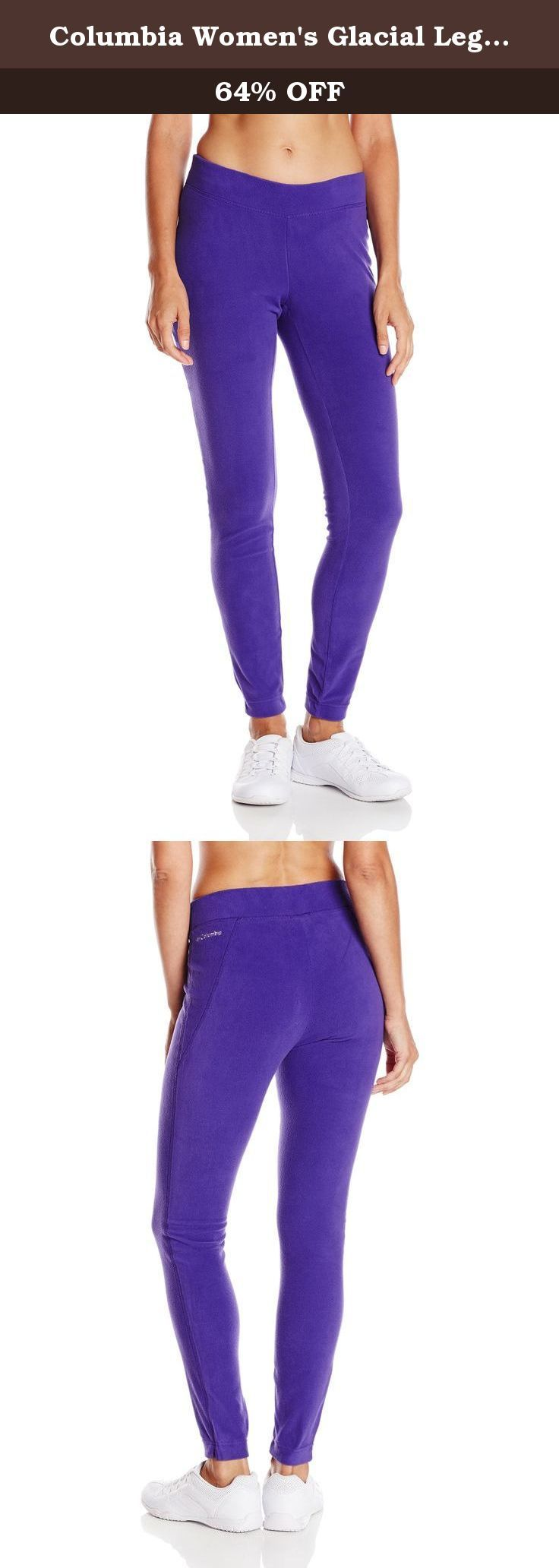 Columbia Women's Glacial Legging, Hyper Purple, Small. These Columbia women's glacial leggings will add a new look to your wardrobe. Product features legging active fit 100 percent polyester.