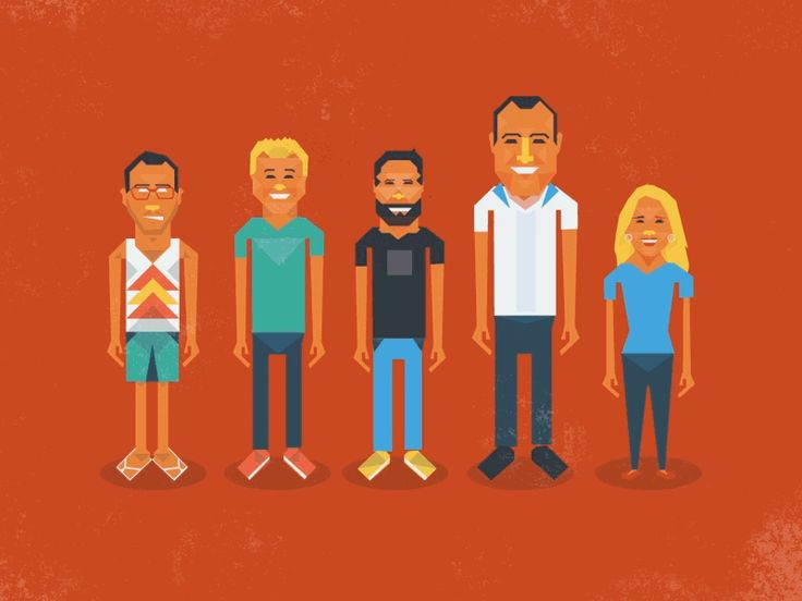 People of Dribbble by Richard Bolland