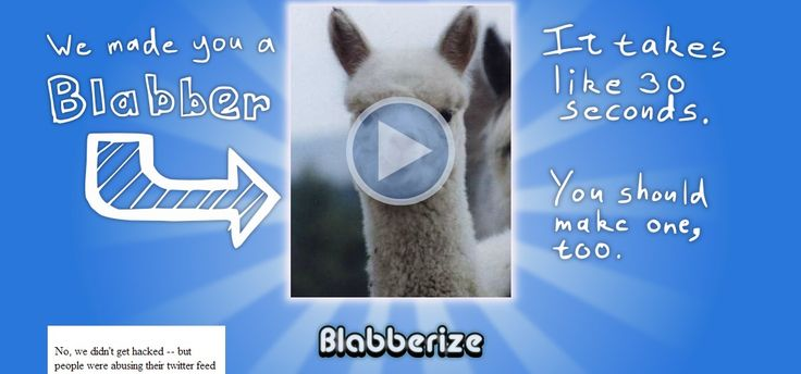 TOOL:  Blabberize - Create talking pictures.