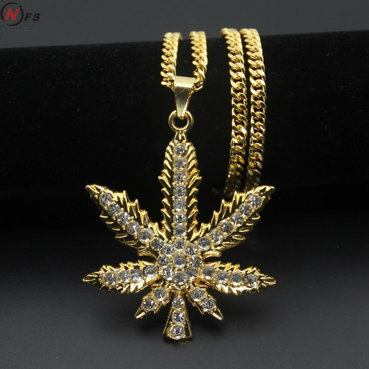 Vintage Gold/Silver Color Rhinestone Hip Hop Jewelry //Price: $11.43 & FREE Shipping //     #cannabisjewelry