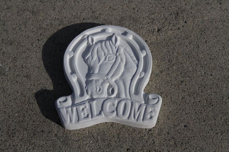 Concrete Welcome Stepping Stone