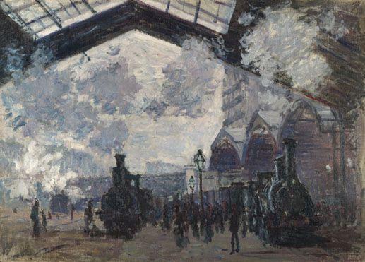 Claude Monet, Saint Lazare Train Station in Paris, 1877