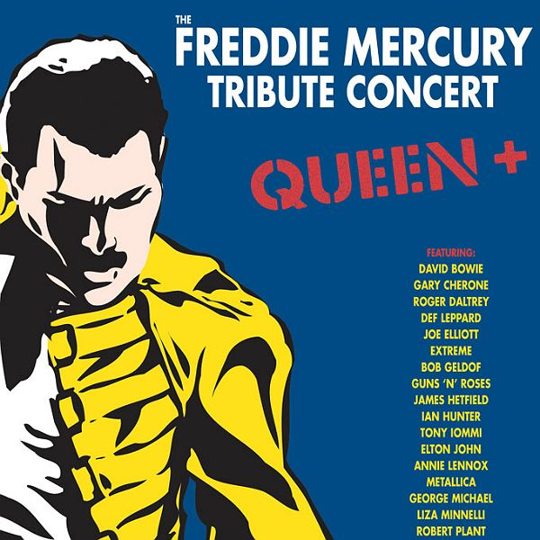 An expanded DVD and Blu-Ray of the legendary 1992 Freddie Mercury tribute concert is to be released next month. Description from gigwise.com. I searched for this on bing.com/images