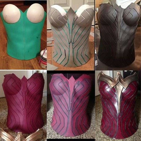 wonder woman foam corset - instructions aren't detailed, but who cares. This looks awesome!
