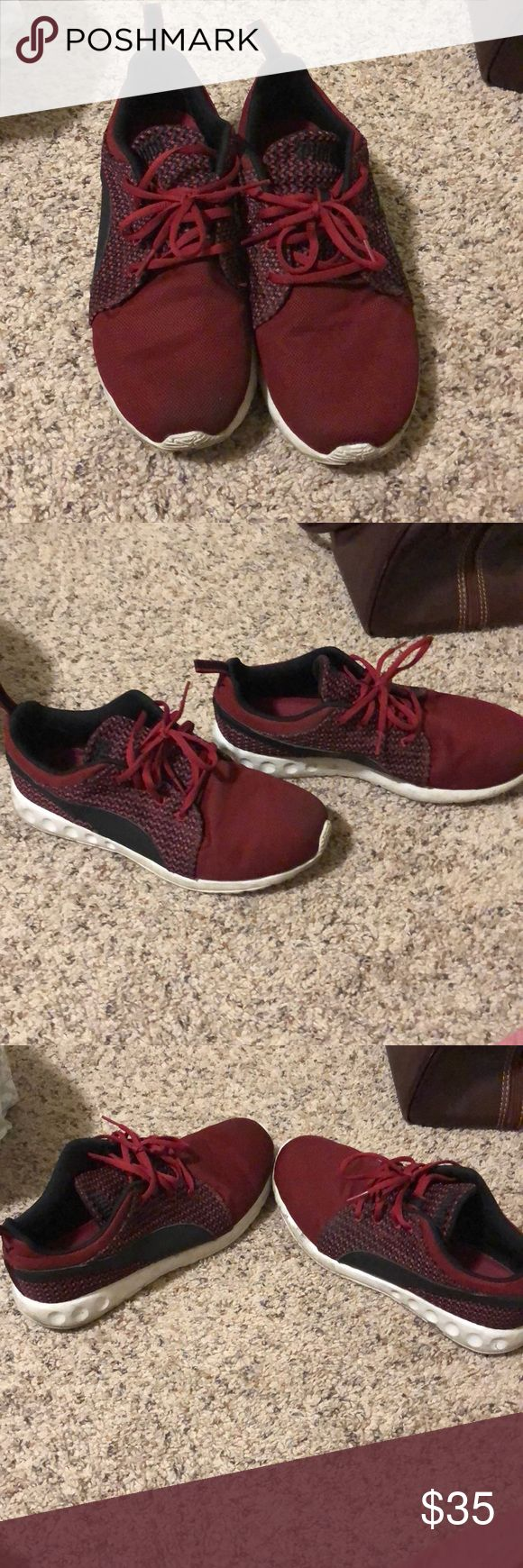 Men's Red Puma Running Shoes Red men's running shoes Puma Shoes Athletic Shoes