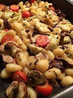 Gnocchi uit de oven met paddenstoelen_2