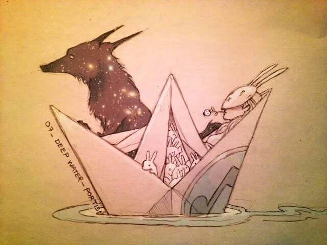Ven a navegar conmigo en el sinfín de barquitos de papel que he hecho para ti.