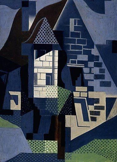 Houses at Beaulieu / Juan Gris / April 1918 / oil on canvas