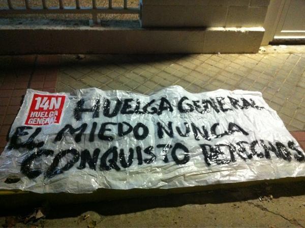 Foto de @luisvilla81   En el turno de noche en Visteon no asiste nadie a trabajar, #14N - Medina de Rioseco