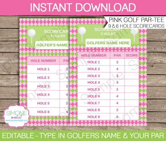 Girls Golf Party Invitations & Decorations full by SIMONEmadeit